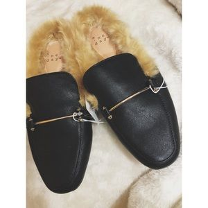 ANewDay Faux Fur Loafer Mules